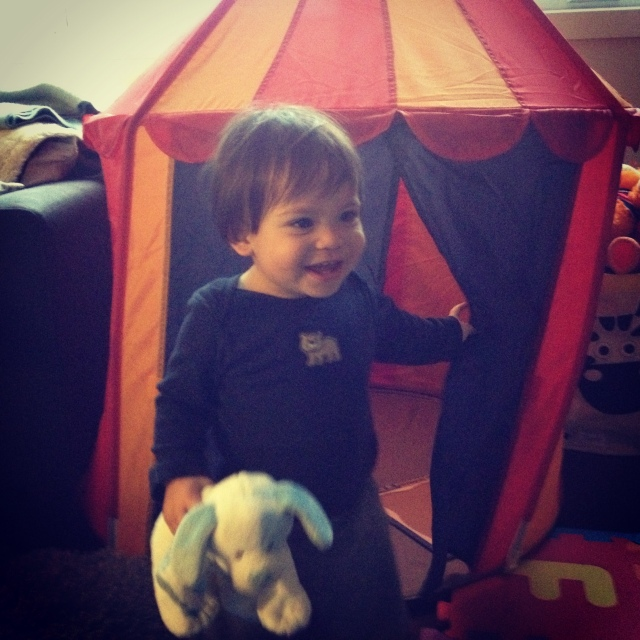 Because every boy needs a circus tent. (Thanks to May, Yves and Noa!)
