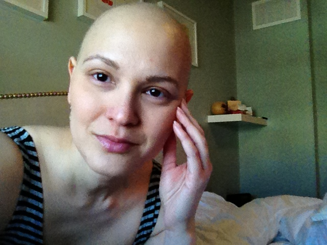 Me, post-chemo.