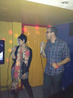 Proof: At karaoke (like boss!)